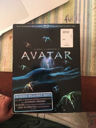 Avatar Collector's Edition Blu Ray 3 disc