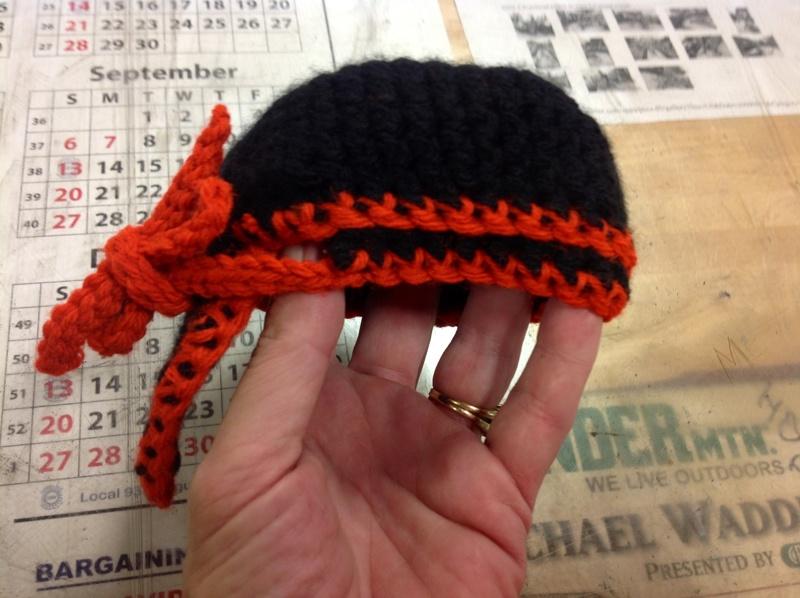 Free Handmade Infant Baby Doo Rag Hat Size 03 Months Harley