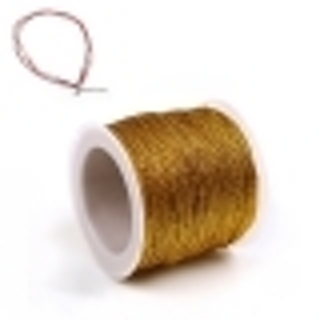 About 3 Feet Polyester Golden Filigree Stringing Cord (non Stretchy) - .08mm