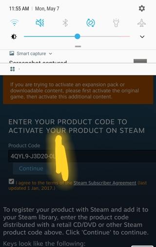 steam retail cd key activation
