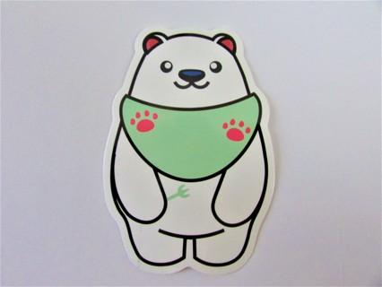 HUNGRY BABY POLAR BEAR- Vinyl Sticker- Helmet/Car/Skateboard/Business/Crafts