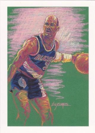 Terry Porter 1991-92 NBA Hoops Portland Trail Blazers Team Card