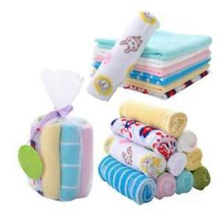 8pcs Soft Baby Kids Boy Girl Little Baby Handkerchief Bath Towel Washcloth Wipe