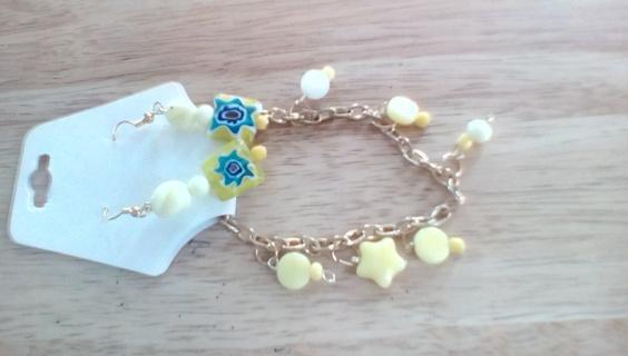 Handmade Bracelet & Earring Set: New