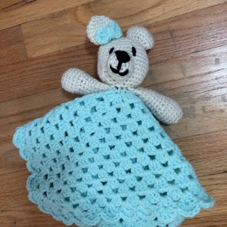 Hand Crocheted Brand New Baby Security Blanket