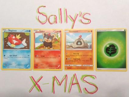 Four (4) Pokémon Trading Cards