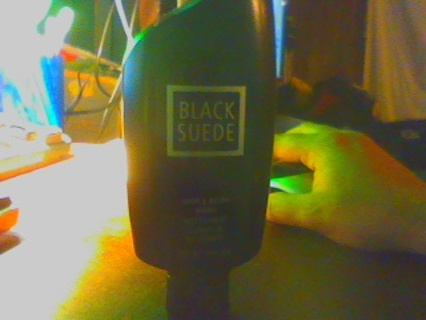 avon black suede body wash