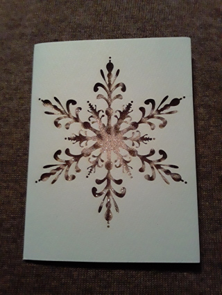 Cutout Glitter Snowflake Greeting Cards