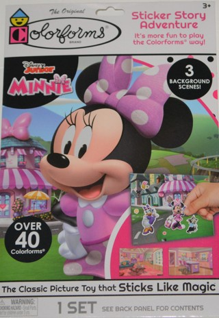 COLORFORMS NEW!! Disney Junior Minnie Mouse Over 40 Colorforms & 3 Scenes!! Great for Christmas!!