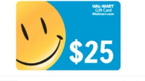 $25 Walmart gift card free shipping