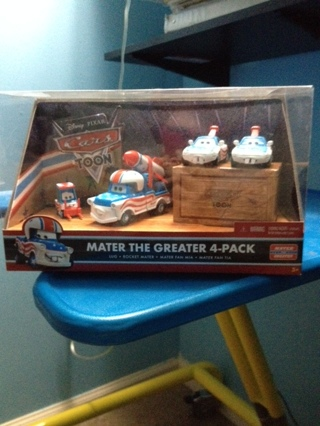 The cars toons mater collectable set