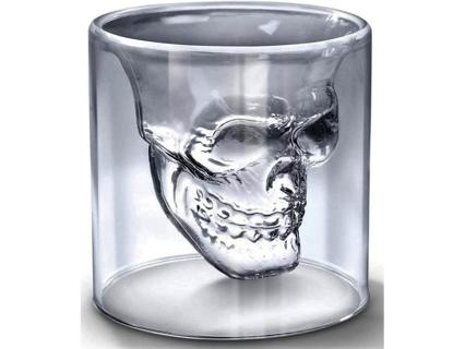 Crystal Skull Shot Double Wall Glass Cup BIGGER SIZE 250 ml