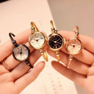 Small Gold Bangle Bracelet Luxury Watches Stainless Steel Retro Ladies Quartz Wristwatches