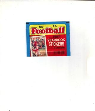 (NIP) 1987 TOPPS YEARBOOK STICKER'S X'S 5