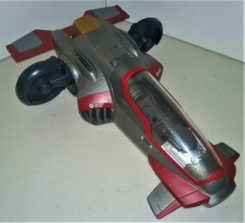 """2011 Hasbro plastic Star Wars spacecraft/fighter - C-082A - 11 1/2"""" long x 7 1/2"""" wide"""