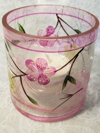 Crackle Glass Candle holder