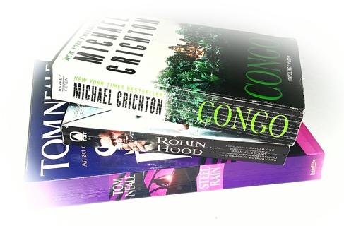 (3 Books!) Robin Hood-David B. Coe, Congo-Michael Crichton, Steel Rain-Tom Neale