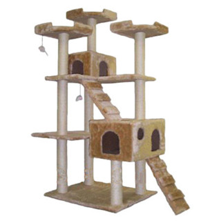 =^.^=   Go Pet Club Cat Tree - Beige - 72 in. (New)