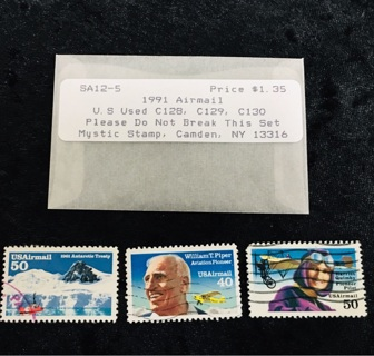 ⭐️WOW!⭐️1991 US AIRMAIL Collector Stamps from Mystic Stamps ⭐️WOW!