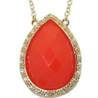 MX Signature Collection Necklace Coral and Gold NWT