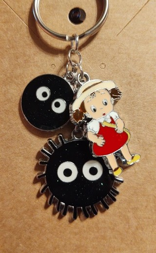 Mei and Soot Sprite Keychain
