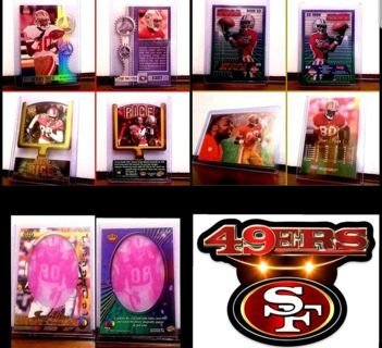 5 card lot> all JERRY RICE _ SAN FRANCISCO 49ers assorted years & brands >READ ALL INFO!