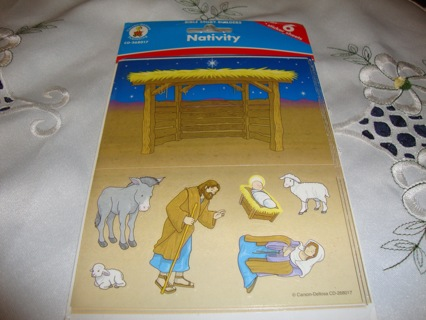 Nativity Scene ~ made your own Christmas Scene Stickers ~ Free SHipping