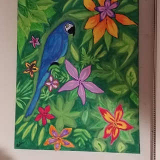 Canvas Parrot original painting, not copy