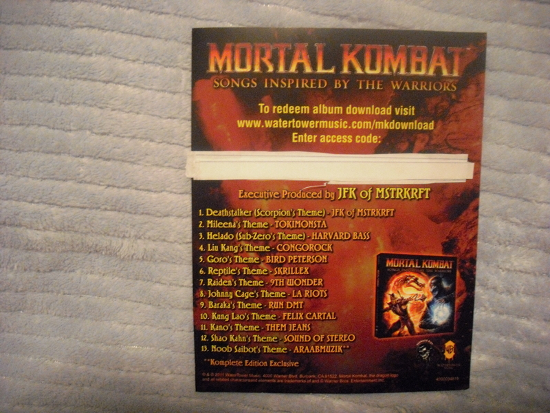 Free Mortal Kombat Komplete Edition Album Xbox 360 Ps3 Video