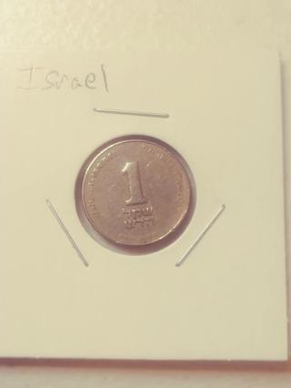Israel 1 Coin! 07