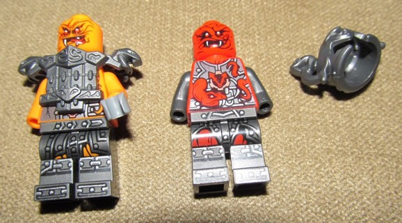 2 Partial Incomplete Official LEGO Ninjago Minifigs Figures Commander Blunck & Tannin