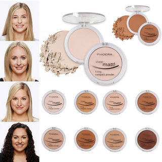 PHOERA Powder Concealer Matte Pearl Finishing Powder Pressed Powder 8 Colors