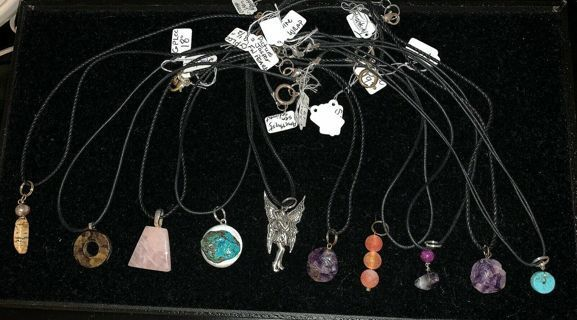 One Lot of 18 Cotton Corded Pendant Necklaces