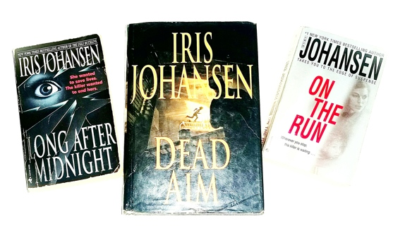 (3 Iris Johansen Books!) Dead Aim, Long After Midnight, On the Run