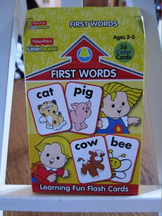 Little People First Word Flash Cards