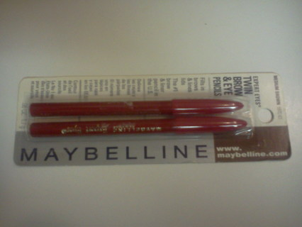 Mabeline Expert Eyes twin Brow & Eye Pencil Med Brwn