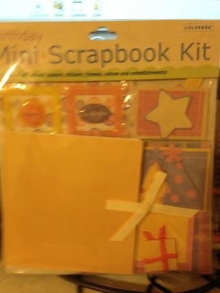 Brand new Sealed Birthday mini Scrapbook Kit By Colorbok