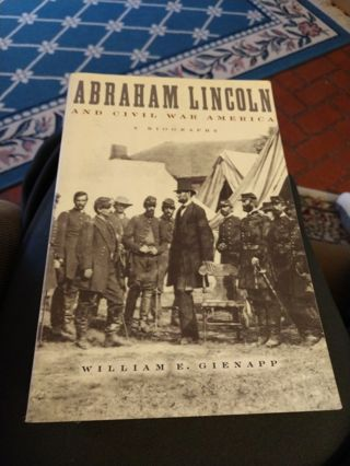 Abraham Lincoln and Civil War America by William Gienapp (paperback)