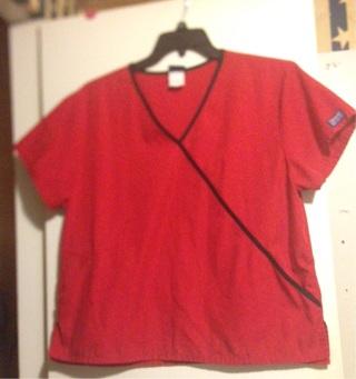 Cherokee Workwear scrub top. Size Large.