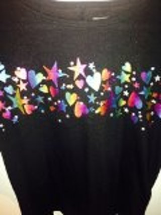 SUPER SPARKLY & CUTE NEW TOP (GIRL'S SIZE 10/12)