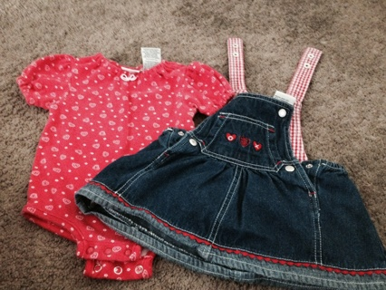 Baby clothes for little girl size 0-3 spring/summer