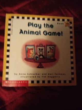 Used Children's Scholastic Book Play The Animal Game!