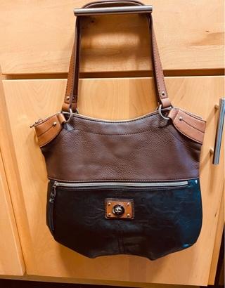 Vintage , Leather Relic Bag