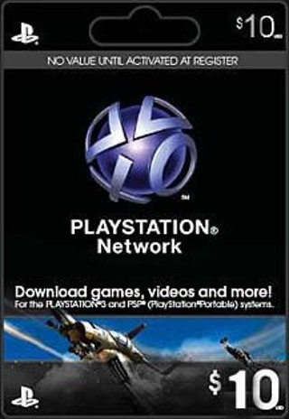 Free 10 Psn Giftcard Code Playstation Network Store Card Gift