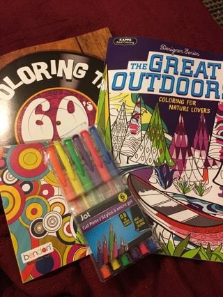 Adult coloring set