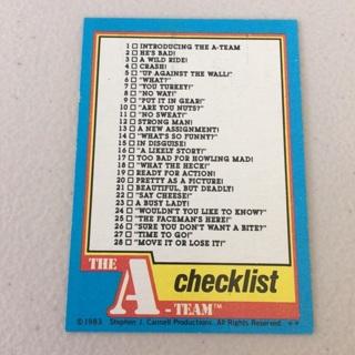 1983 Topps The A-Team - [Base] #66 Checklist