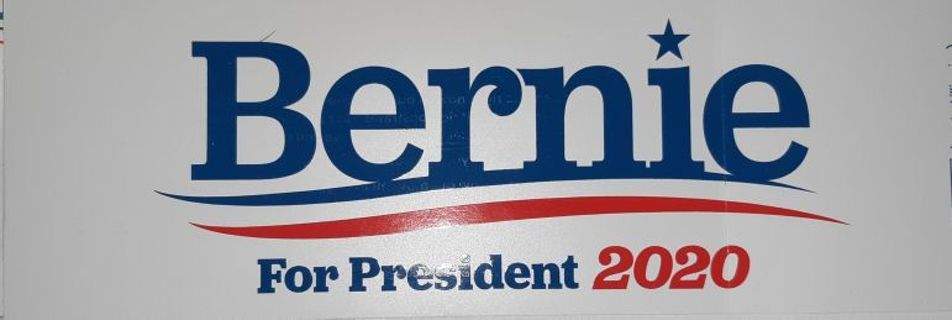 New 2020 Bernie Sanders Presidential Decal