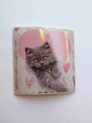 Vintage Kawaii Cat Sticker