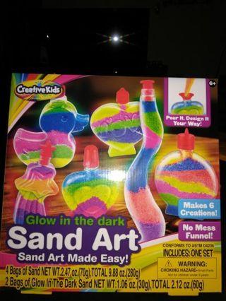 SAND ART(glow in the dark) =FREE SHIPPING.