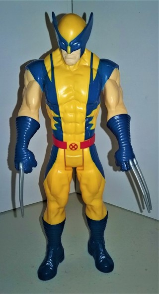 """2013 Marvel X-Men WOLVERINE plastic action figure - 11"""" tall - (3 claws of 6)"""